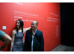 Dinh Q. Lê at the opening of 'Time Ligaments' (2009)